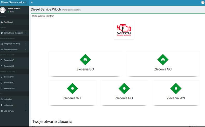 CRM Diesel Service Włoch